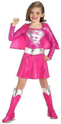 Pink Supergirl Super Girl Superman Superhero Fancy Dress Halloween Child - Pink Superman Costume