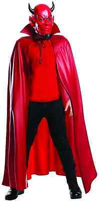Red Devil Mask Cape Scream Queens Fancy Dress Halloween Adult Costume Accessory ()