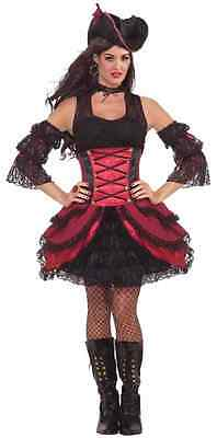 Rogue Halloween Costumes (Rogue Pirate Caribbean Buccaneer Wench Fancy Dress Halloween Sexy Adult)
