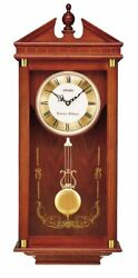 Seiko Dark Brown Oak Wall Clock - 11.5 Inches Wide - QXH107BLH