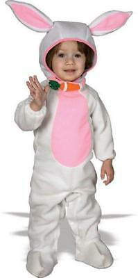 Cute as a Bunny White Rabbit Romper Fancy Dress Up Halloween Baby Child Costume ()
