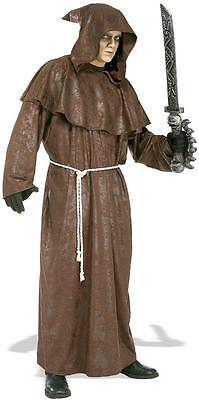 Mad Monk Hooded Robe Grim Reaper Brown Ghoul Fancy Dress Halloween Costume](Mad Monk Halloween)