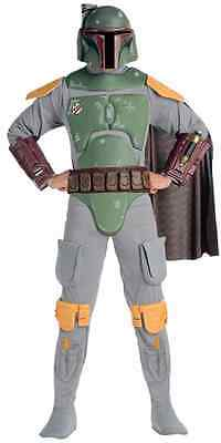 Boba Fett Star Wars Bounty Hunter Fancy Dress Up Halloween Deluxe Adult (Star Wars Bounty Hunter Kostüm)