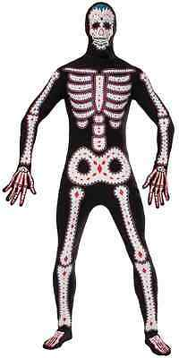 Day of the Dead Skeleton Disappearing Man Invisible Skin Suit Halloween - Day Man Costume