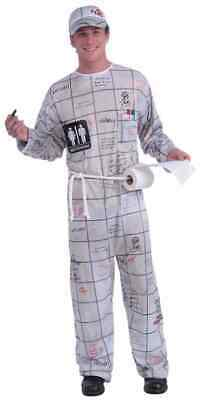 affiti Funny Comic Fancy Dress Up Halloween Adult Costume (White Guy-kostüm)