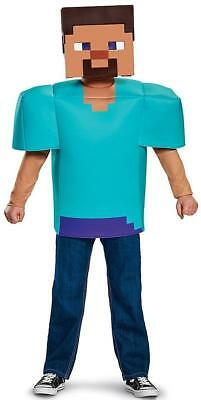 Steve Classic Minecraft Mojang Video Game Fancy Dress Halloween Child Costume - Steve Minecraft Halloween Costume