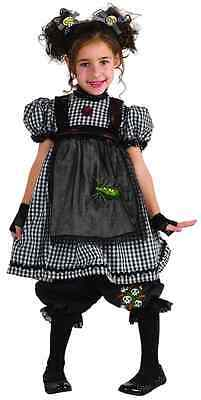 Gothic Rag Doll Raggedy Ann Black Cute Fancy Dress Up Halloween Child Costume