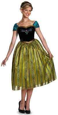 Anna Coronation Gown Disney Frozen Princess Fancy Dress Halloween Adult Costume