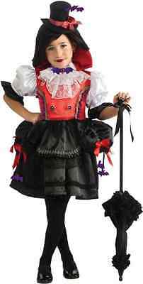 Contessa Arisen Steampunk Victorian Vampire Fancy Dress Halloween Child Costume