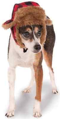 Trapper Hat Hunter Plaid Fancy Dress Up Halloween Pet Dog Cat Costume Accessory