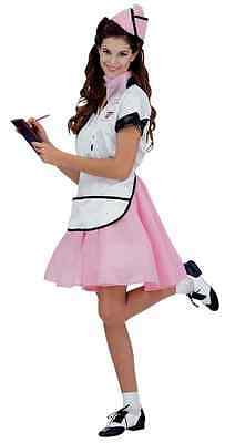 Sock Hop Girl (Soda Pop Girl Diner Retro Waitress Sock Hop Fancy Dress Halloween Adult)