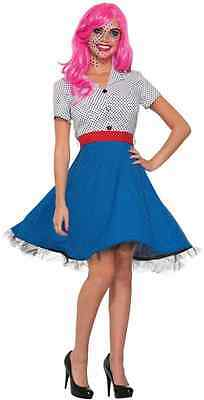 Ms. Dottie Pop Art 50's Comic Book Retro Fancy Dress Up Halloween Adult Costume