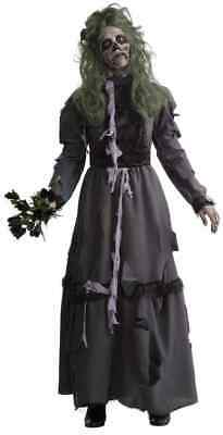 Colonial Halloween Costumes Adults (Zombie Lady Colonial Undead Grey Gray Fancy Dress Up Halloween Adult)