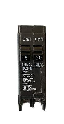 Eaton Cutler Hammer Bd1520 Tandem Circuit Breaker 15 Amp 20 Amp Twin