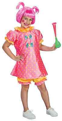 Baby Doll Clown Girl Pink Circus Carnival Fancy Dress Up Halloween Child Costume