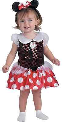 Minnie Mouse Red Classic Disney Fancy Dress Up Halloween Toddler Child Costume