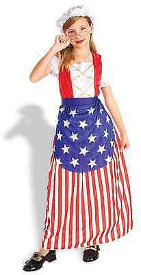 Betsy Ross American History Patriotic Party Fancy Dress Halloween Child Costume - Ross Halloween Party