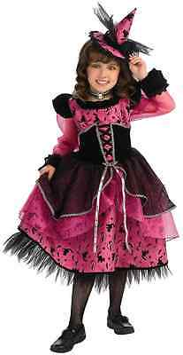 Victorian Witch Gothic Wicked Black Pink Fancy Dress Up Halloween Child Costume](Kids Victorian Dress Up)