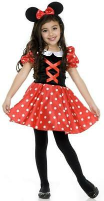 Little Black Dress Halloween (Little Miss Mouse Red Black Polka Dot Minnie Fancy Dress Halloween Child Costume)