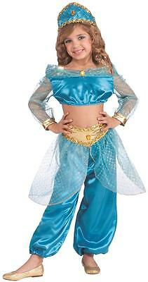 Arabian Princess Harem Girl Blue Genie Fancy Dress Up Halloween Child Costume - Arabian Princess Halloween