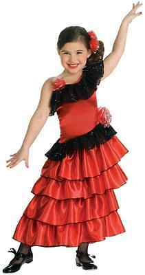 Spanish Princess Mexican Salsa Dancer Fancy Dress Up Halloween Child Costume