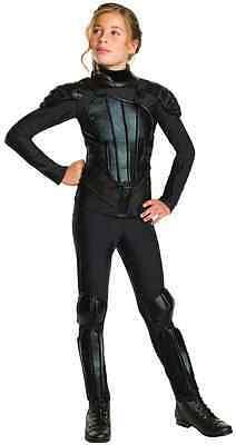 Katniss Everdeen Rebel Hunger Games Black Fancy Dress Up Halloween Teen Costume