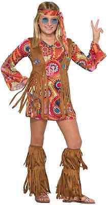 Peace Lovin' Hippie 60's Groovy Woodstock Fancy Dress Up Halloween Child Costume (Hippy Dress Up)