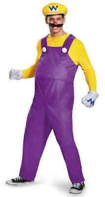 Wario Super Mario Brothers Nintendo Plumber Fancy Dress Halloween Adult Costume