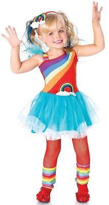 Rainbow Doll Clown Brite Bright Fancy Dress Up Halloween Toddler Child Costume - Kids Rainbow Bright Costume