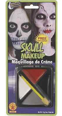 Skull Makeup Kit Fast Face Paint Fancy Dress Up Halloween Costume Accessory