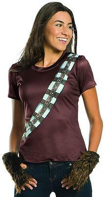 Chewbacca Rhinestone Shirt Star Wars Wookie Fancy Dress Halloween Adult - Wookie Halloween Costume