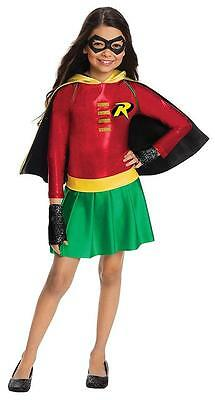 Robin Girl DC Comics Superhero Cute Fancy Dress Up Halloween Child Costume