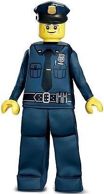 Police Officer Prestige Lego Iconic Classic Fancy Dress Halloween Child Costume - Lego Police Halloween Costume