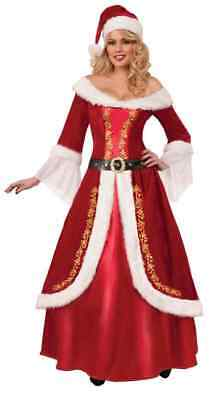 Mrs. Claus Premium Santa Christmas Fancy Dress Halloween Deluxe Adult Costume - Premium Adult Halloween Costumes