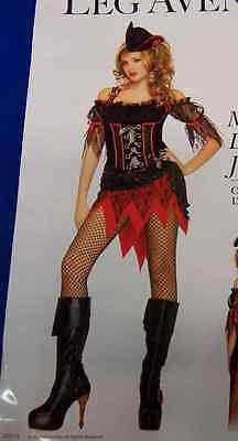 Ms. Davy Jones Caribbean Pirate Wench Fancy Dress Up Halloween Adult - Davy Jones Costume