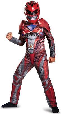 Red Ranger Power Rangers Movie Fancy Dress Up Halloween Deluxe Child Costume - Red Ranger Deluxe Costume