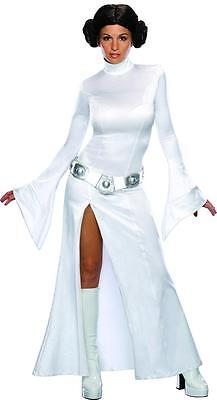 Princess Leia White Star Wars Classic Fancy Dress Halloween Sexy Adult Costume