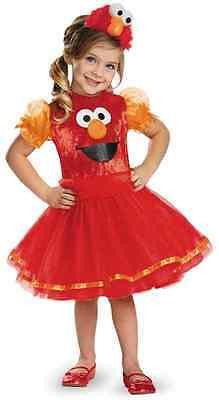 Elmo Tutu Sesame Street Red Monster Fancy Dress Halloween Toddler Child Costume