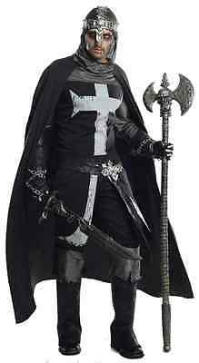 The Black Knight Medieval Warrior Grand Heritage Halloween Deluxe Adult - Medieval Black Knight Kostüm