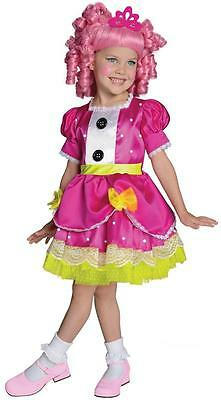 Jewel Sparkles Lalaloopsy Rag Doll Fancy Dress Up Halloween Deluxe Child Costume - Pink Rag Doll Costume
