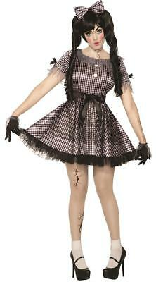 Broken Doll Gothic Scary Little Zombie Fancy Dress Up Halloween Adult Costume  - Broken Doll Dress