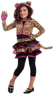 Leopard Hoodie Wild Cat Cheetah Animal Fancy Dress Halloween Child Costume