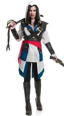 Cutthroat Pirate Girl Assassin's Creed Dress Up Halloween Deluxe Adult Costume](Assassin's Creed Halloween Costume Adults)