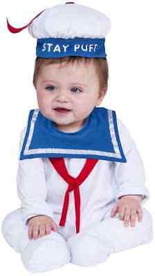 Stay Puft Marshmallow Man Ghostbusters Fancy Dress Up Halloween Child Costume](Marshmallow Man Costume Kids)
