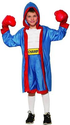 Boxer Boy Fighter Sports Champ Fancy Dress Up Halloween Deluxe Child Costume - Sports Costumes Kids