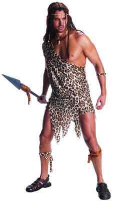 Tarzan Caveman King Jungle Cave Man Leopard Fancy Dress Halloween Adult Costume - Tarzan Halloween