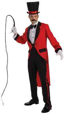 Ring Master Circus Carnival Lion Tamer MC Fancy Dress Up Halloween Adult Costume