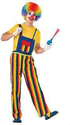 Stripes the Clown Circus Overalls Birthday Fancy Dress Halloween Adult - Halloween Costumes Overalls