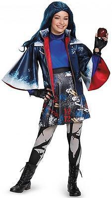 Evie Prestige Disney Descendants Fancy Dress Up Halloween Deluxe Child Costume