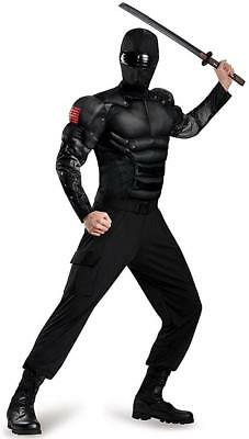 Snake Eyes Classic Muscle G.I. Joe Retaliation Ninja Halloween Adult Costume